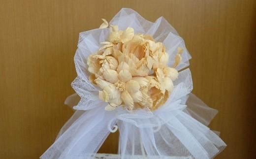 TKB09 ウッドフラワー プチブーケ(ヒノキ) つちかべ花店 寄付額36,000円