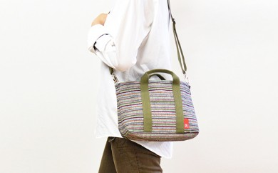 [№5786-2196]【遠州綿紬&ROOTOTE】ROO-Carriage 春霖