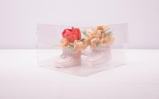 TKB19 ウッドフラワー シューズアレンジメント(2足セット) つちかべ花店 寄付額17,000円