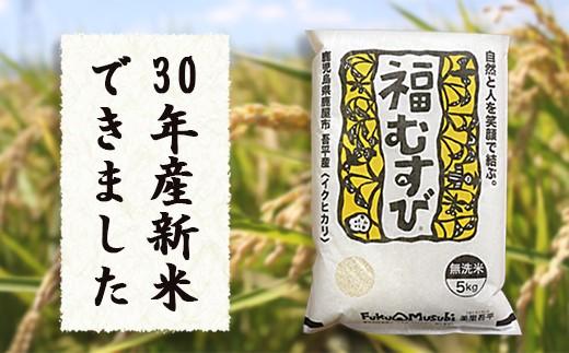 307 30年産米(無洗米)「美里吾平(うましさとあいら)イクヒカリ」10kg+小袋2kg