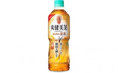 [№5800-0141]PET600ml×24本 爽健美茶 健康素材の麦茶