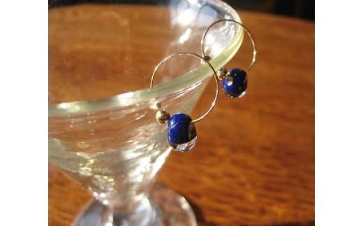 30E-089 手作りガラスのイヤリング