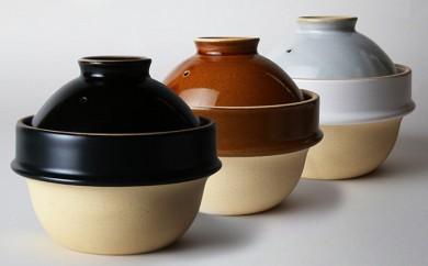 [№5666-0189]土鍋(土釜)ご飯 益子焼「Kamacco」(かまっこ)1合炊き