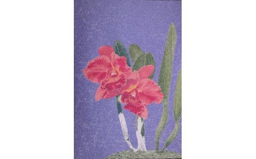 「蘭花布」掛軸風タペストリーS-1