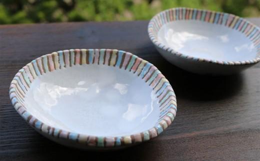 【やちむん】丸小皿(白)2枚セット