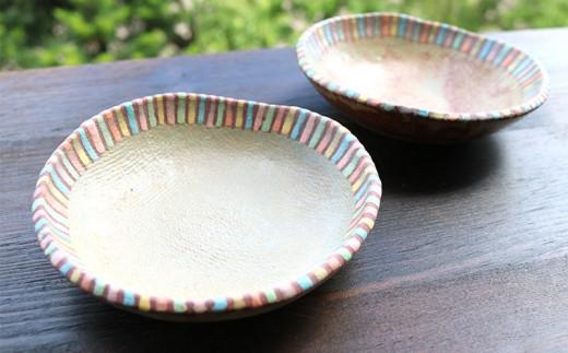 【やちむん】丸小皿(茶)2枚セット