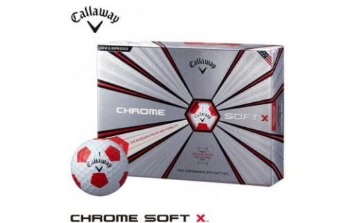 ゴルフボールキャロウェイクロムソフトエックストゥルービス2018年モデル(ホワイト/レッド・3ダースセット36球)