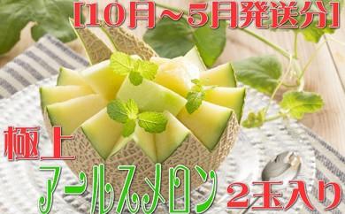 [№5745-1214]【高級】極上アールスメロン 2玉入り 10~5月発送分