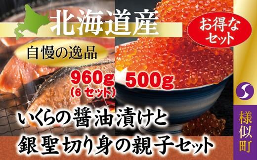 【2201】いくら醤油漬と銀聖切り身の親子セット