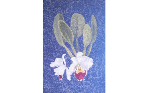「蘭花布」掛軸風タペストリーS-2