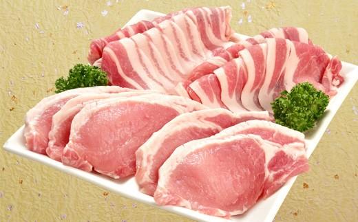 I-1 県産豚肉房総オリヴィアポークスライス・切り身セット(ロース・バラ)1kg