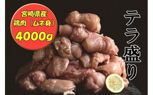 (1515)テラ盛り 宮崎県産  ムネ身(手羽身) 4000g
