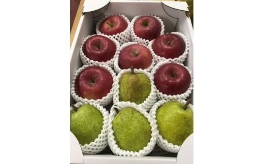 FY18-762 ラフランス&葉とらずふじりんご 詰合せ 約3kg
