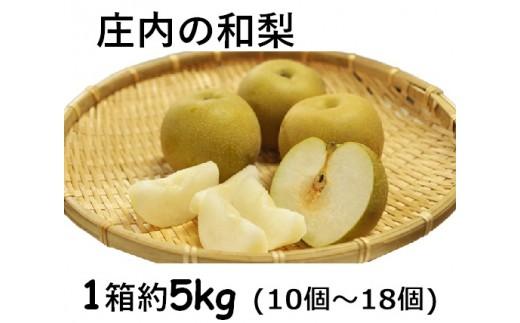137 庄内の和梨(1箱約5kg)