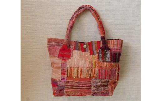 B093② 裂き織りのバッグ
