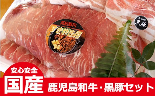 No.103 鹿児島和牛・黒豚セット【徳重精肉店】