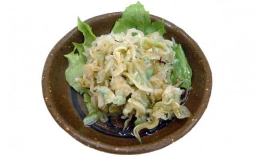 ミミガーサラダ (豚耳&海産物)
