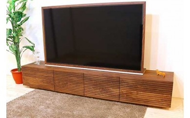 風雅/FUUGA TYPE2  テレビボード W2400(ウォルナット‐スリット)