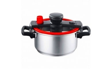 マイヤー 低圧力鍋 「クイッカー クッキング 3.0L」 20cm レッド IH/ガス「オール熱源対応」 KAT-3.0RD