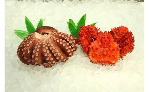 CC-55003 冷凍花咲蟹・ボイルたこセット