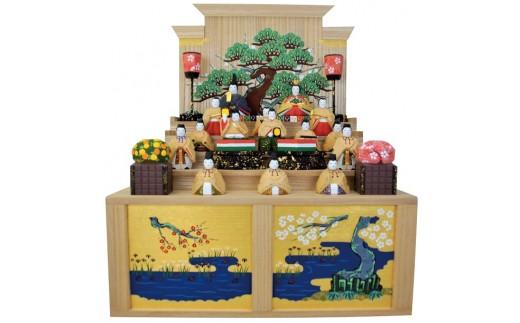 QFD-1.【桃の節句のお祝いに】 奈良一刀彫 雛人形 段飾り