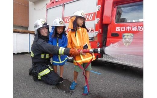 [体験型]君も消防士! はしご車の搭乗や放水体験にチャレンジしてみよう!