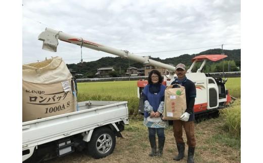 [№4631-1467]【玄米15kg新米!!】エコファーマーが栽培した特別栽培水主米(みずしまい)