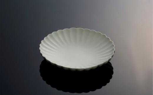 〔臼杵焼〕白磁輪花 菊花鉢