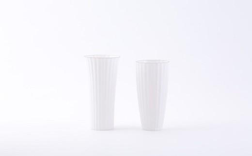 有田焼/やま平窯/エッグシェルビアグラスKIKUWARIとMENTORI