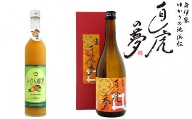 [№5786-2216]浜松ゆかりの「直虎の酒、三ケ日みかん梅酒」飲みくらべ
