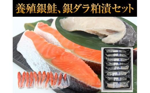 a20-153 銀鮭(中辛)4切×3パックと銀ダラ粕漬8切バラ入