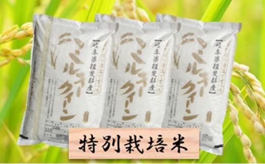 [№5644-0446]特別栽培米★精米30kg(分搗き可)または玄米33kg 【ミルキークイーン】