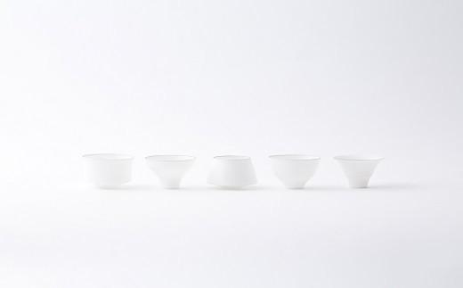 有田焼/やま平窯/エッグシェルぐい吞みセット