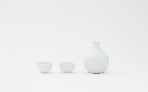 有田焼/中村清六/白磁えくぼ酒器