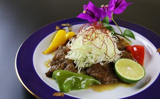 調理例:宮崎和牛ステーキタタキ風サラダ