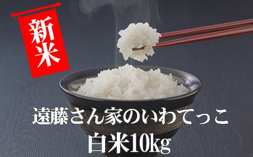 HMG353 遠藤さん家のいわてっこ/白米10kg(平成30年度産米)