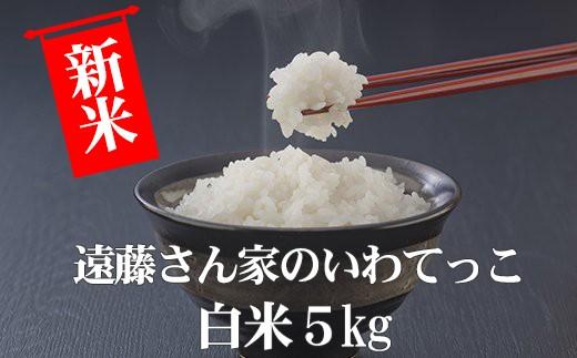 HMG324 遠藤さん家のいわてっこ/白米5kg(平成30年度産米)