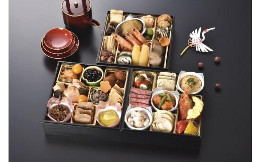 【迎春おせち】銀座花蝶 和洋三段重「慶福」国産素材100%