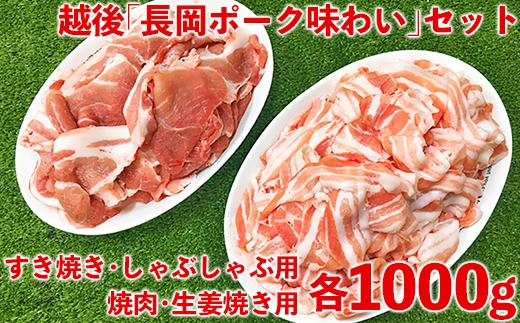 1-360 越後「長岡ポーク味わい」セット2000g