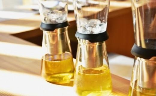 【緑茶水出し】玉露「ごこう、さみどり」の茶葉を6回分と氷や水出し用茶器との詰合せ n0224