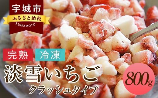 熊本県産 淡雪いちごクラッシュタイプ 800g (400g×2パック)