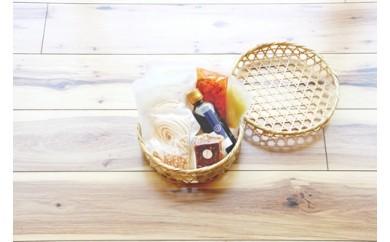押出し製法別府冷麺4食~伝統の竹籠に入れて~