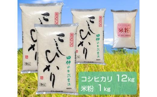 No.126 <特選>稲敷産コシヒカリと米粉のセット / お米 精米 茨城県 人気 おすすめ