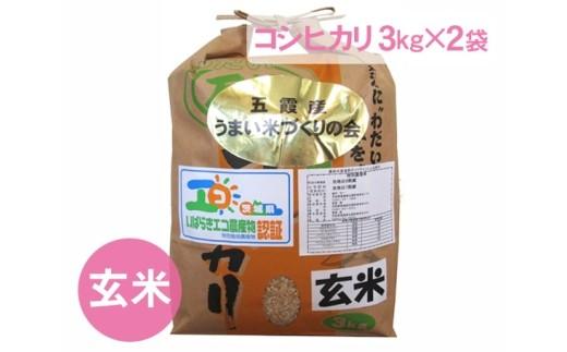 No.092 五霞町産うまい米コシヒカリ(玄米)6kg