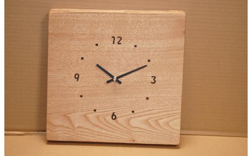 791 一枚板掛け時計 栗