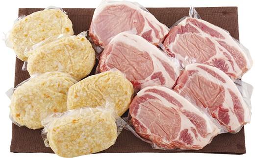 ヘルシーなハンバーグとボリュームたっぷり豚肉のコラボ