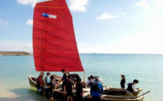 【美々ビーチいとまん乗船】帆掛けサバニ体験(1名~6名)