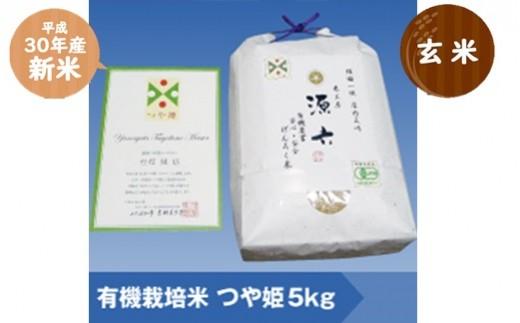 015 ②つや姫マイスター(源六)が作る 【30年産・玄米】有機栽培米つや姫5kg