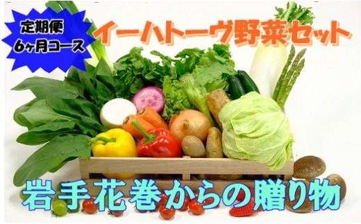 【定期便6ヶ月コース】イーハトーヴ野菜セット 【294】