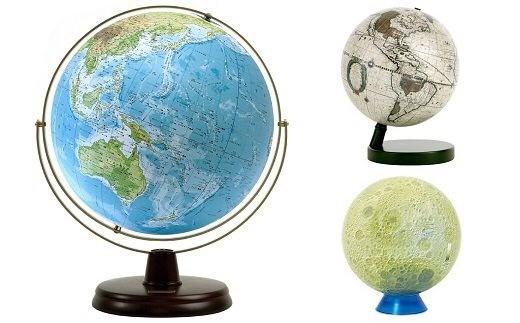 K-002 ~月と世界をながめて好奇心を広げる~地球儀・月球儀3点セット
